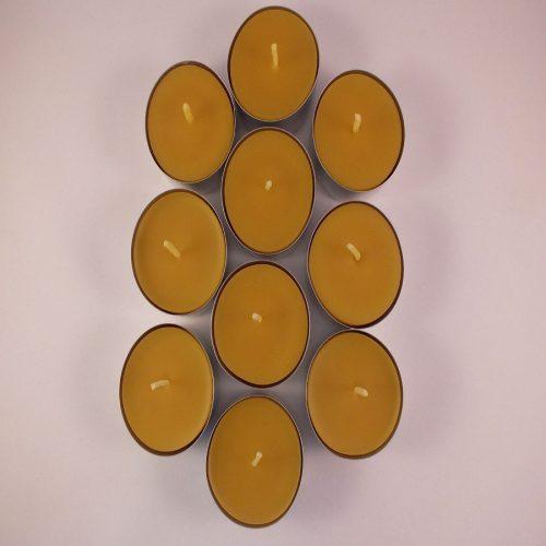 Tea lights, beeswax