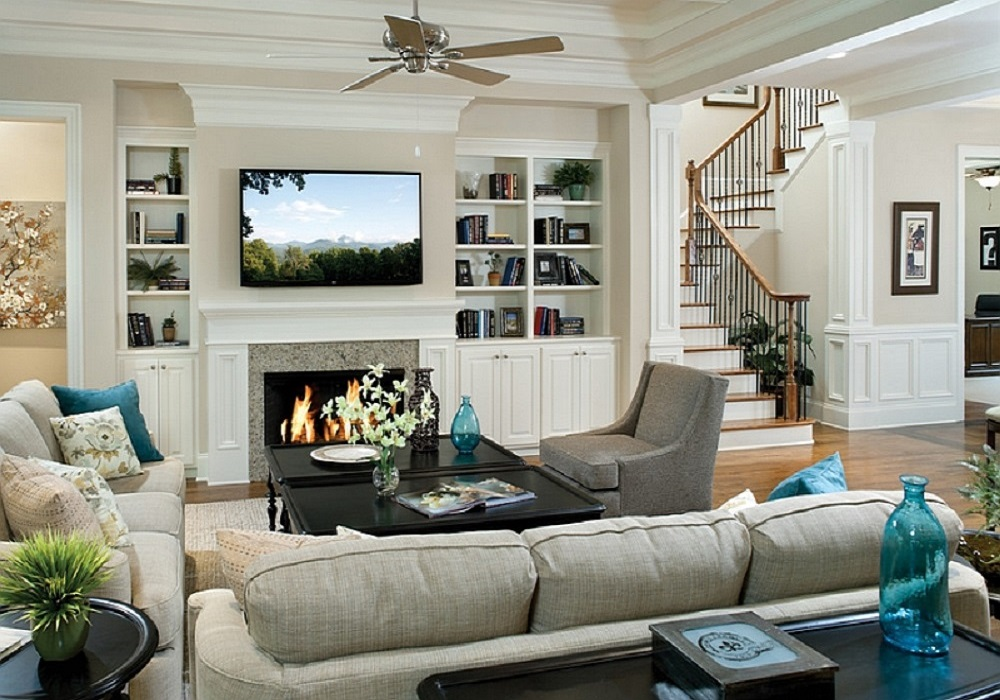 Above the fireplace Bedroom Design