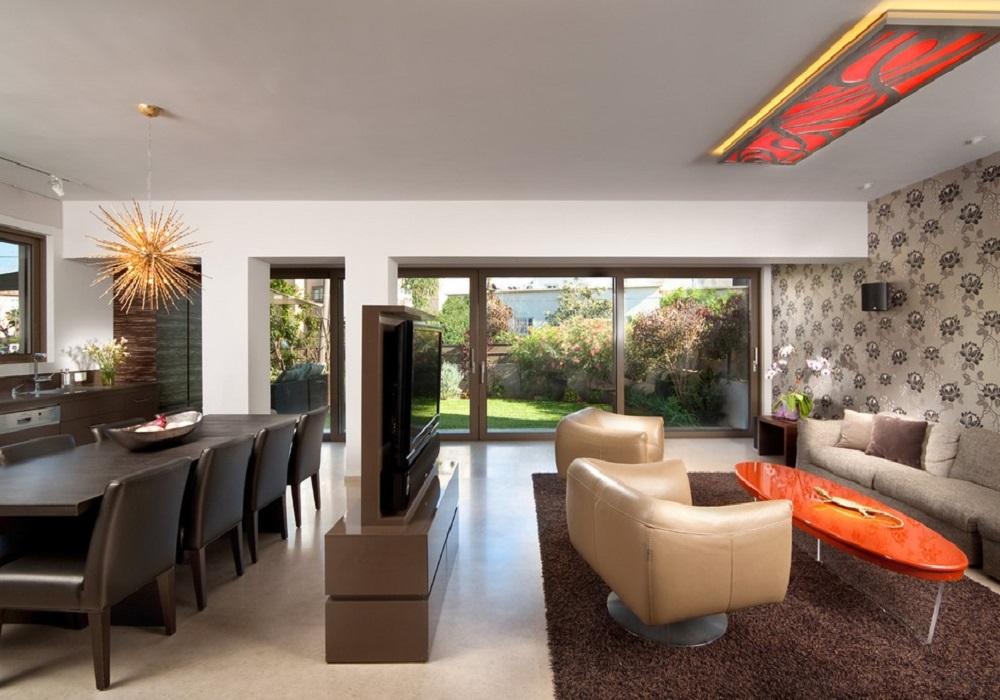 Room Divider With TV Design
