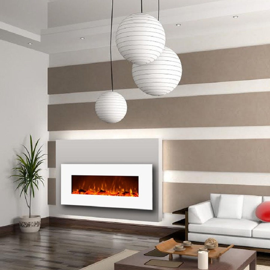 "Moda Flame Houston 50"" electric wall mounted fireplace"