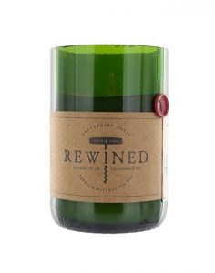 Rewined natural candle